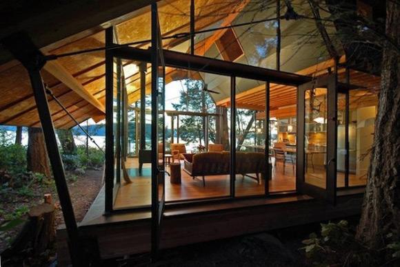 成都室内装饰 豪华小木屋别墅 住在丛林眺望大海