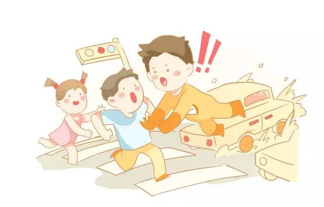 为了防止交通意外发生的,我们建议家长教育孩子做到图片