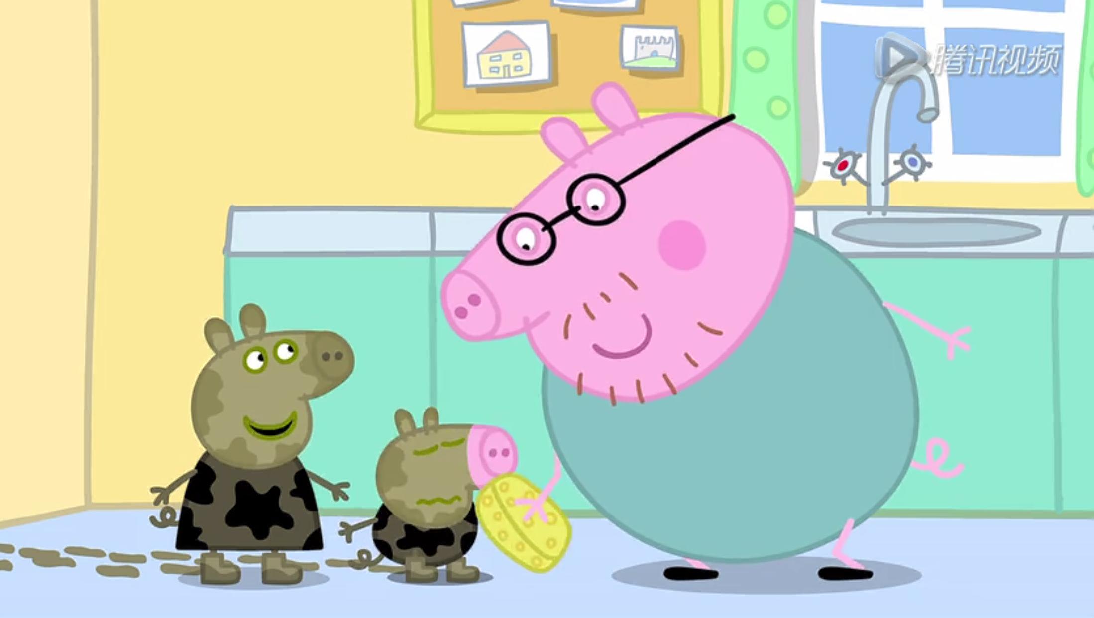 小猪佩奇猪爸爸怎么画