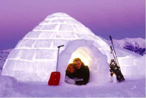 爱斯基摩人冰屋图片