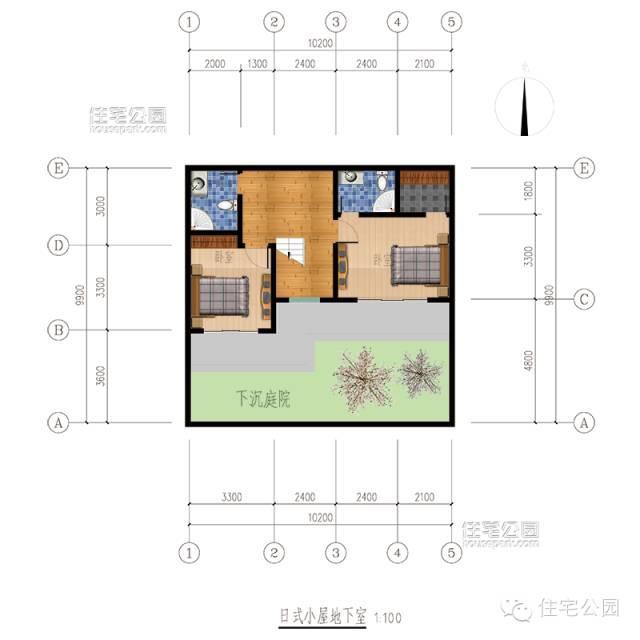 10x10米自建房带地下室
