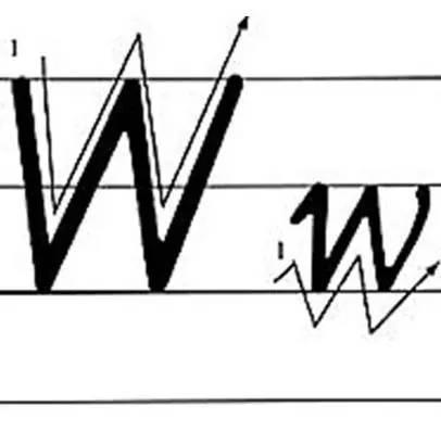 英文字母手写体笔顺_英语字母占格和笔顺