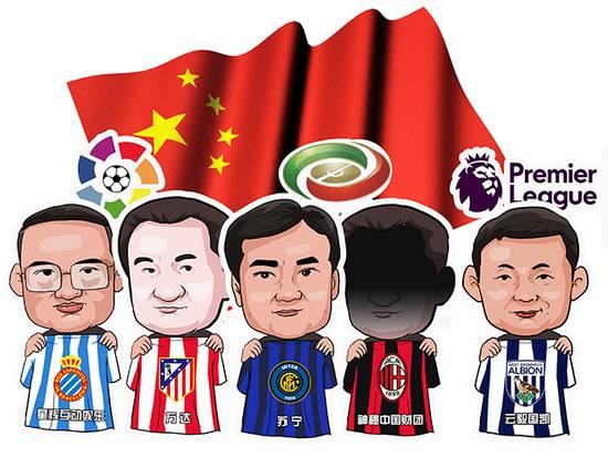 """一张图看懂中国资本控制下的国际足球""""联队""""国际足球冠军杯直播"""