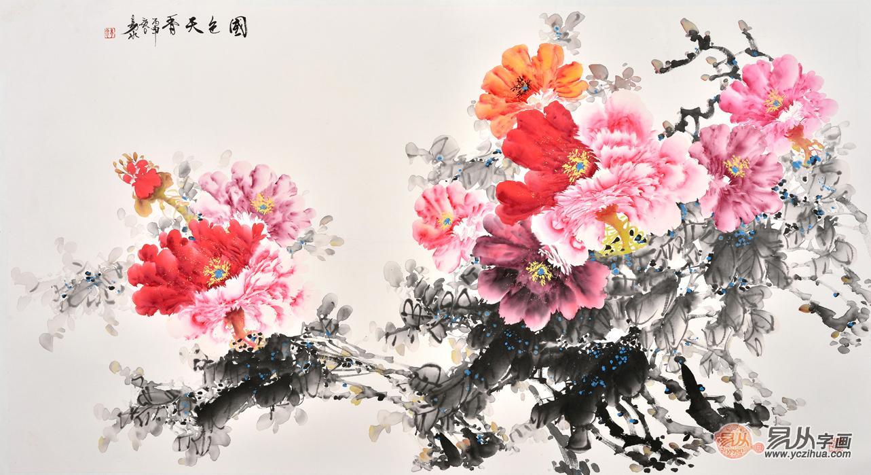 国色天香 当代名家国画牡丹作品