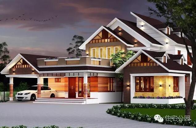 平面图: 一层有个堂屋的设计,堂屋的的东侧是厨房和餐厅,西侧有一个图片