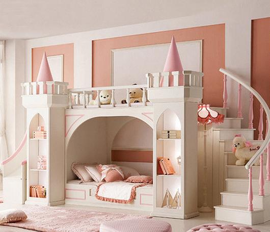 粉嫩粉嫩的女孩房间装修图片欣赏 你心动了吗