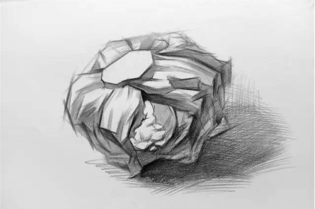素描静物单个物体刻画