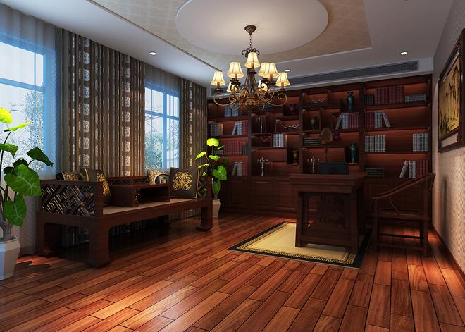 新中式书房,宁静而致远图片