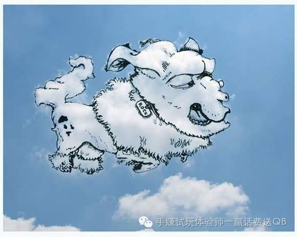 云朵想像插画 每一朵云都是新创作的天然草稿