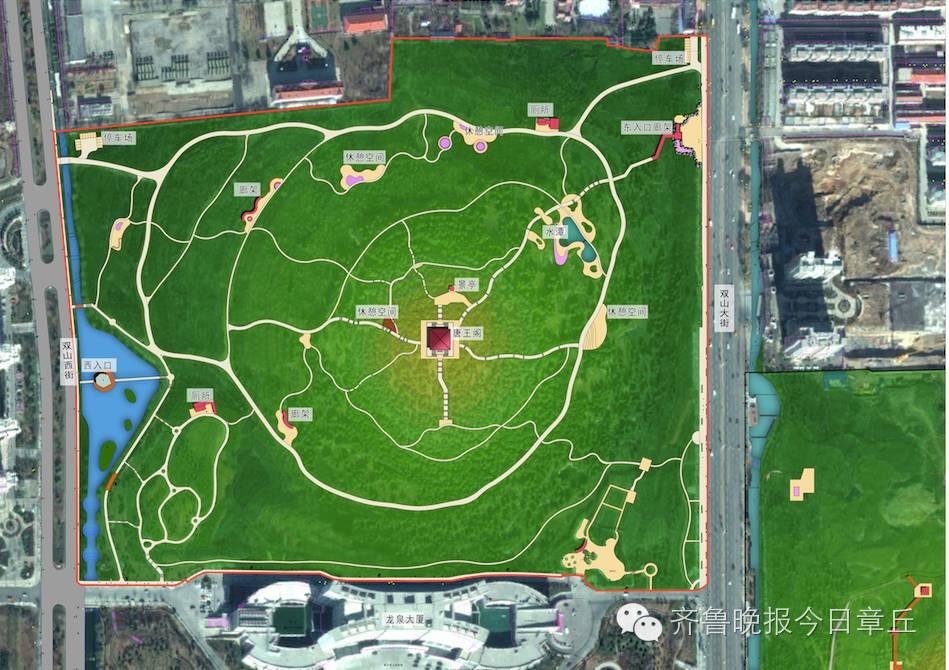 图2:唐王山公园西区总平面图