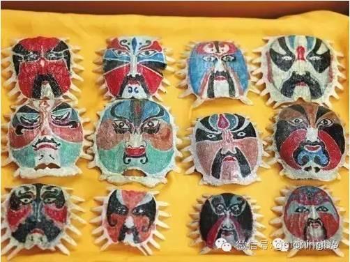 甲鱼脸谱   通过妙趣的创意,赋予原本普通的甲鱼壳新的色彩,成为每
