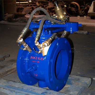 hdz744x智能自控阀是有阀体,阀瓣,调节阀,缓冲液压缸等组成,外部由图片