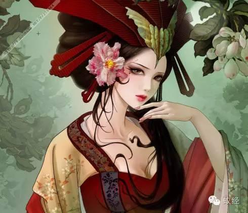 高冷手绘古装美女头像