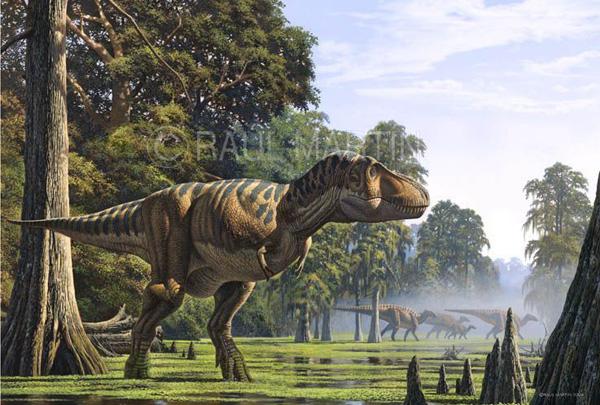 图注:白垩纪是恐龙的时代   白垩纪是中生代的最后一个纪,开始于距今1.42亿年前。白垩纪时期联合古陆早已不复存在,各大洲也已经有了今天的样子,当时的气候温暖湿润,形成了明显的四季更替。白垩纪是生命进化的重要阶段,代表了中生代的巅峰时期,当时的地球是恐龙的家园,翼龙和沧龙则分别占据了天空和海洋。除了恐龙,被子植物开始取代裸子植物,哺乳动物继续进化,原始鸟类也出现在天空中。   白垩纪终结于一颗来自外太空的彗星,这颗直径10公里的彗星撞击了地球,致命的撞击引发了火风暴、海啸、地震、火山爆发等一系列灾难,短