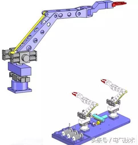 液压驱动的机械臂自重小,持重大;便于实现绝缘;惯性小,换向冲击小.图片