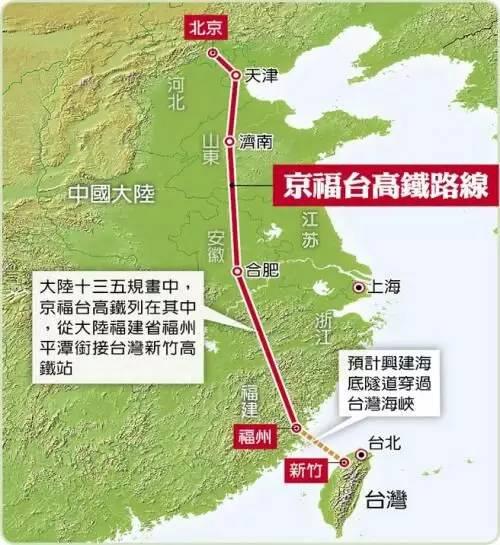 京台高铁规划图.(