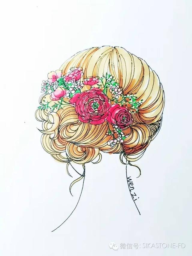新娘头花(手绘表现)