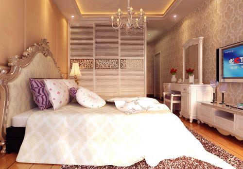 房间墙卧室家居起居室v房间卧室背景装修现代吊顶500_348pvc装修加灯图片