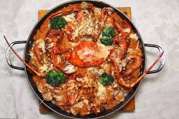 北京最地图的西班牙海鲜饭美味美食西宁机场图片
