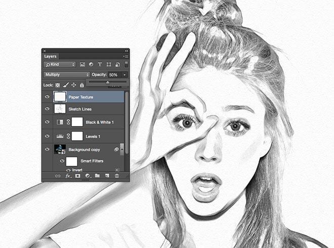 如何用Photoshop打造铅笔素描画效果