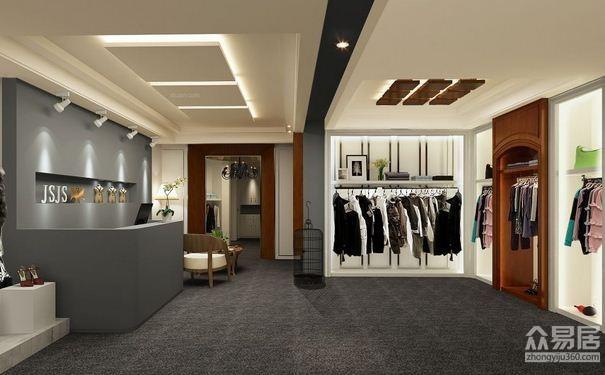 原木服装店摆设图-生活中看不到的时装店装修效果图