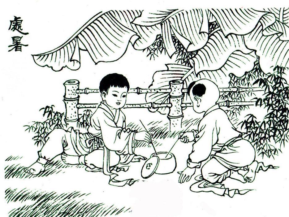 四季手绘简笔画