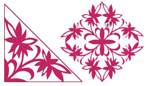窗花剪纸步骤图-简单窗花剪纸图案