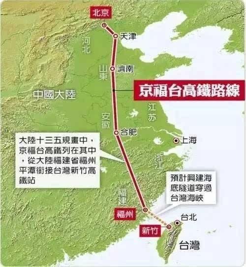 重磅消息! 以后可以坐高铁去台湾了! 幸福来得太突然!