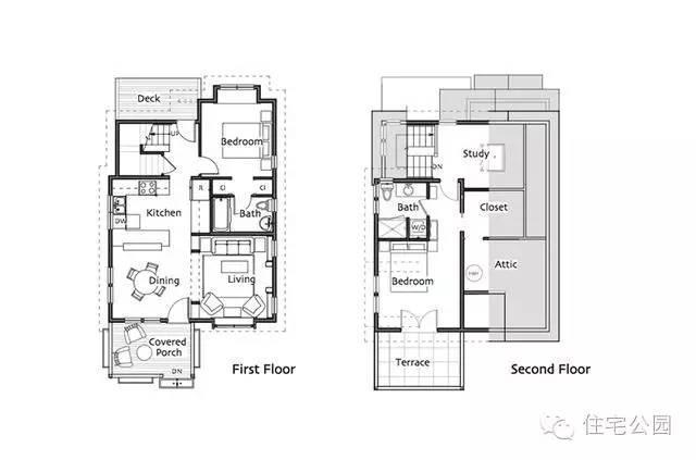 美式别墅7米X13米含平面图 农村建房可否参考