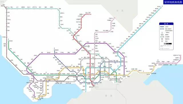 深圳地铁2030年规划图出来了!这9大便利,你还不知道?