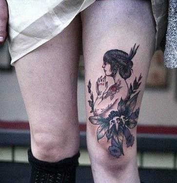 大腿:刺青图片