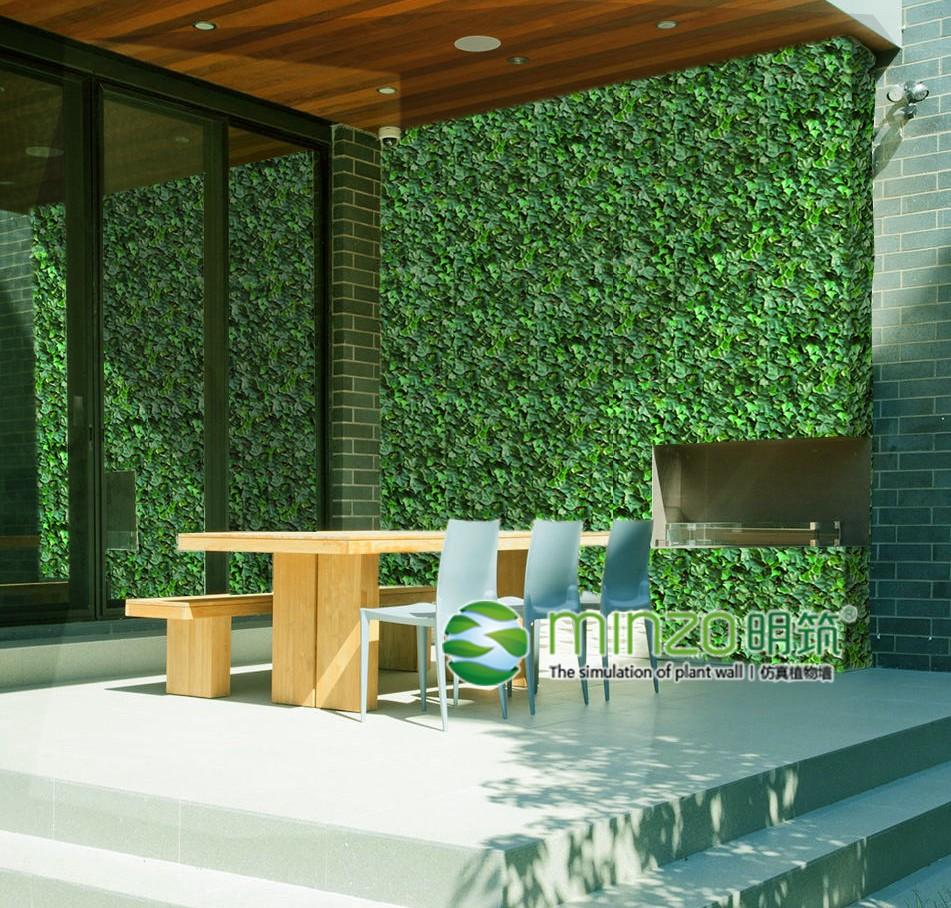 高仿真创意植物:让电视背景墙duang的一下靓起来