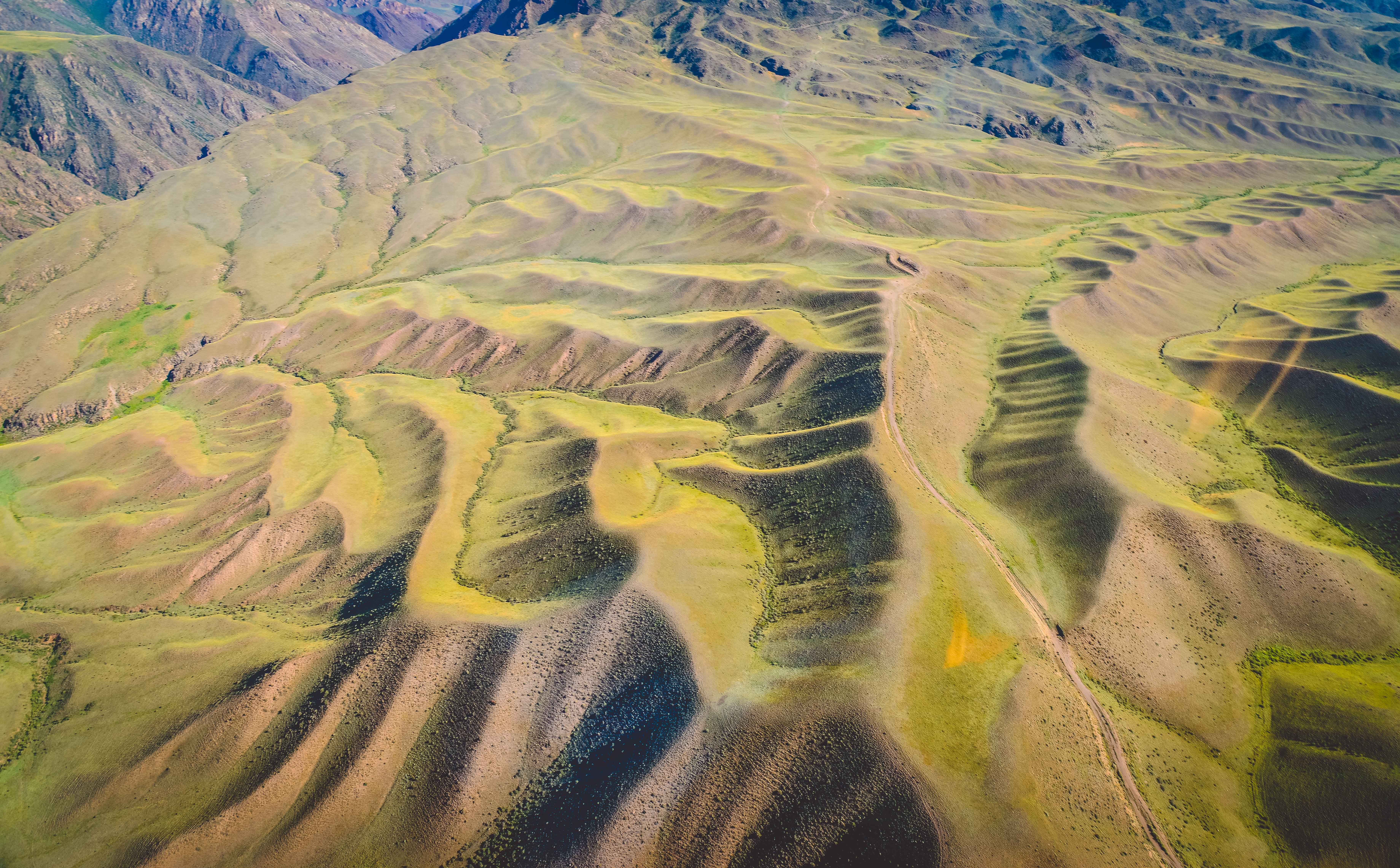 哈萨克斯坦,乘坐直升机航拍大美阿拉木图