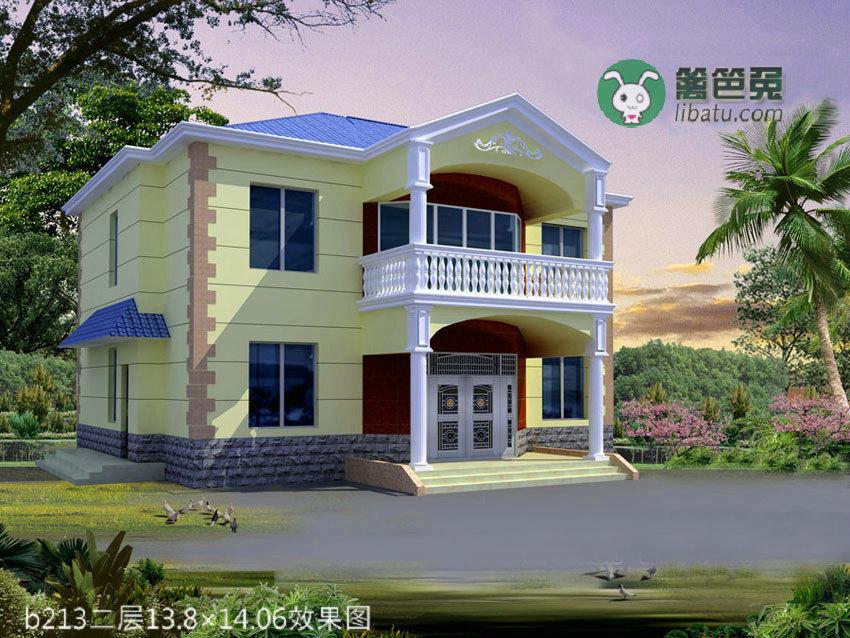 农村二层小别墅设计图纸带效果图建筑施工图纸