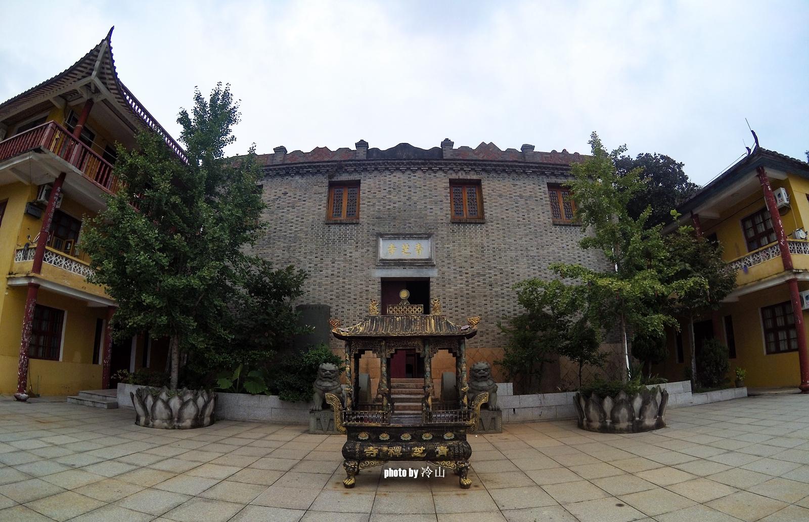 闽江口,青芝山上青芝寺