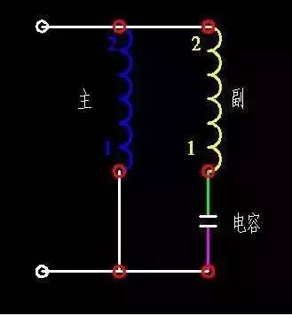 单相电机正反转的控制以及接线图