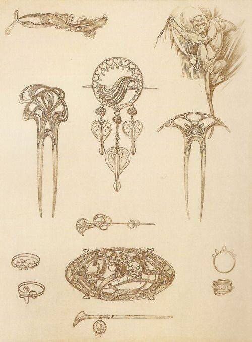 术时期珠宝设计手稿