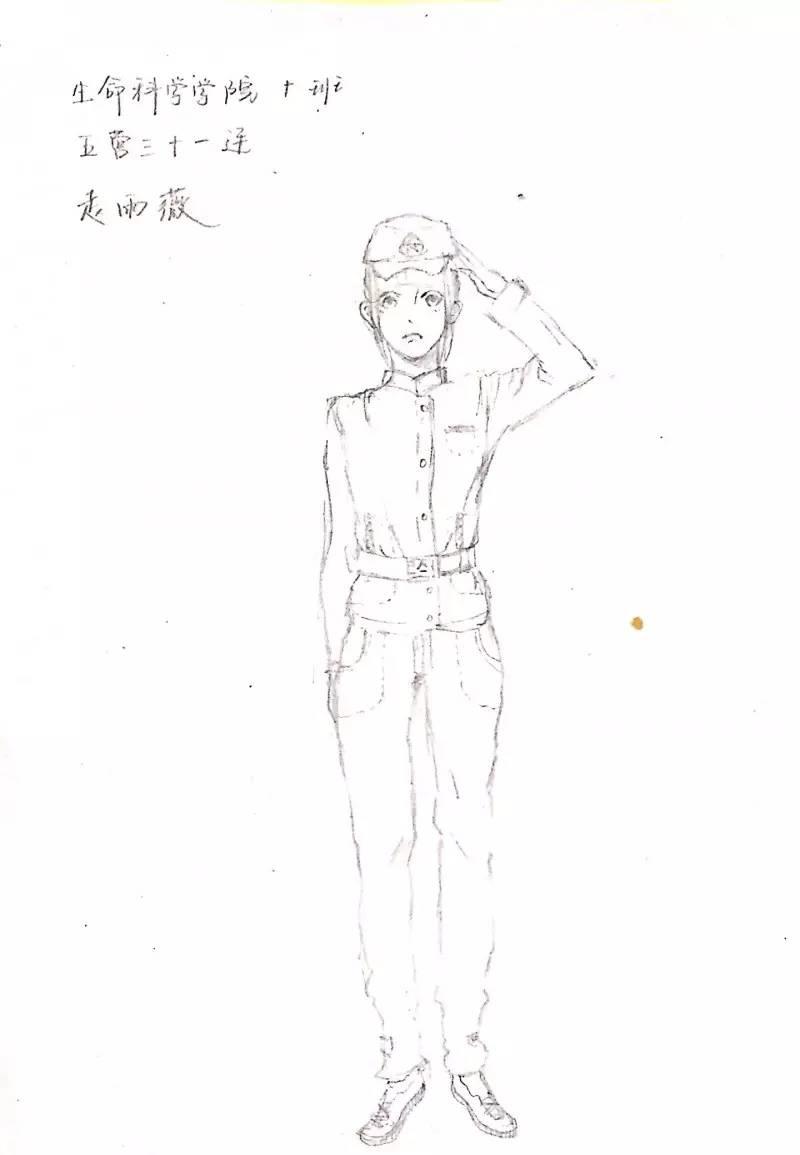 军训简笔画图片