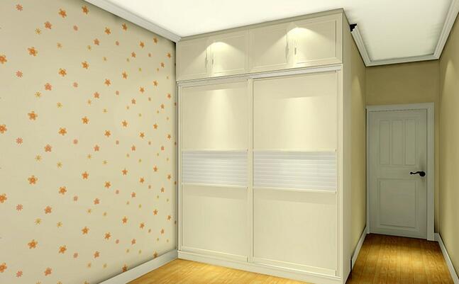 简欧卧室柜子装修效果图8 小编点评:卧室衣柜有时候也不一定要是整体图片
