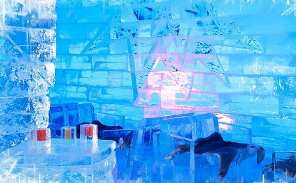 冰封主题酒店设计带您走进冰雪般的魔法世界