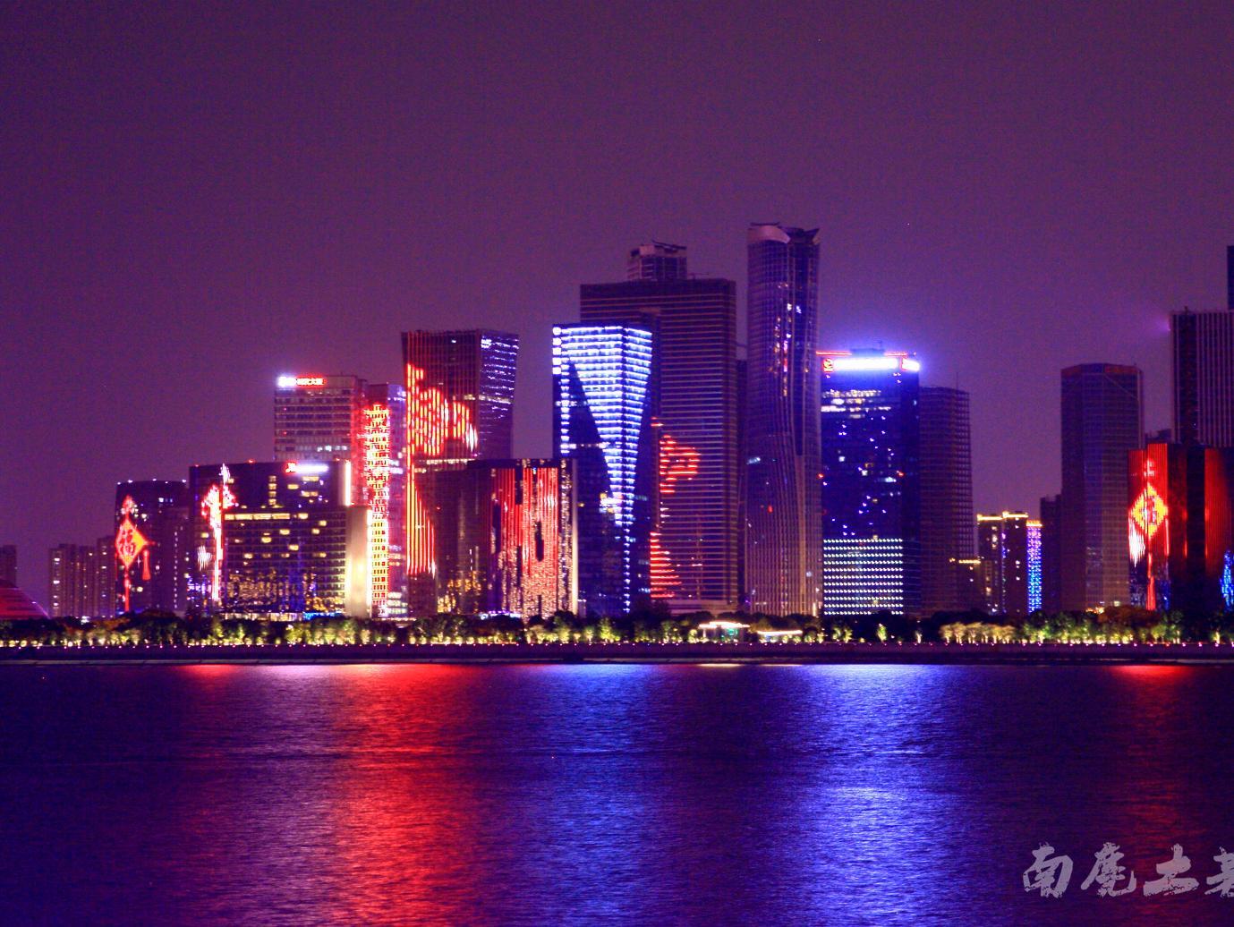 G20杭州新城灯光秀,美到爆