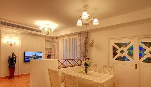 80后婚房装修效果 田园风格温馨2居室