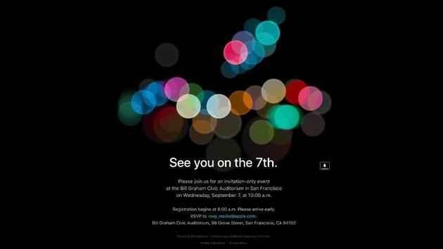 苹果发布2016年秋季发布会邀请函,确定在9月7日图片