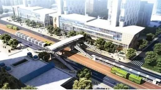 南宁市快速公交brt试点工程以南宁火车站为起点,以南宁火车东站为终点