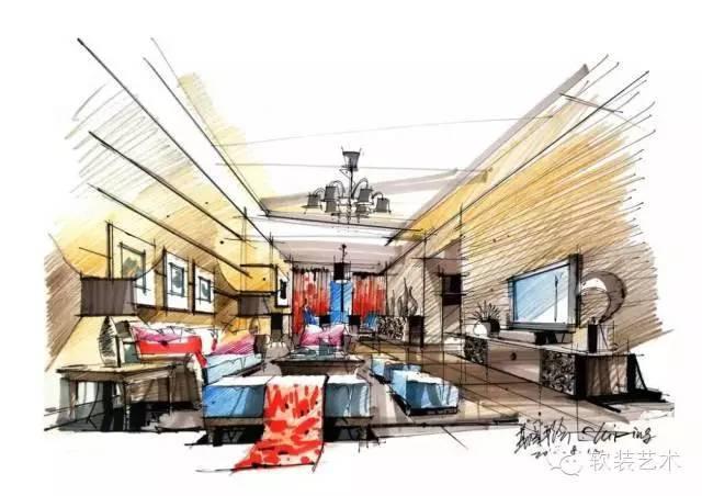 其它 正文  室内设计手绘,日趋重要,是室内设计师,高校学生学习的必修