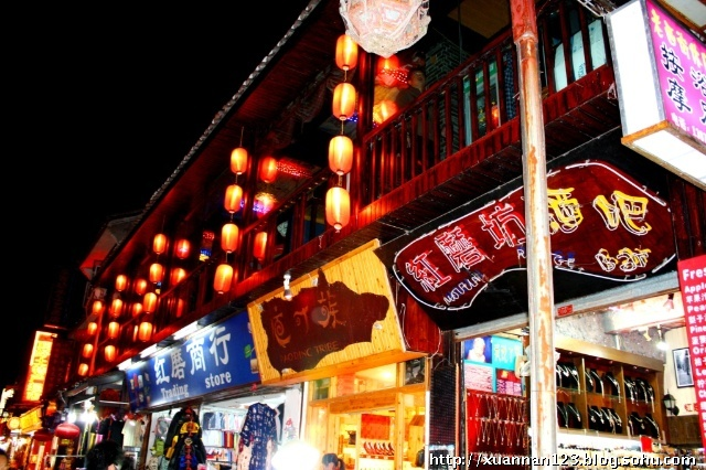 阿毛桂林游:(九)风土――西街夜色