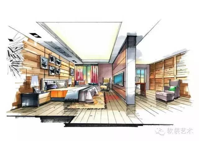 些室内设计手绘图