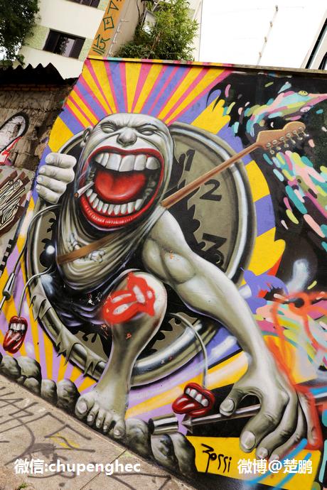巴西世上最美的涂鸦胡同