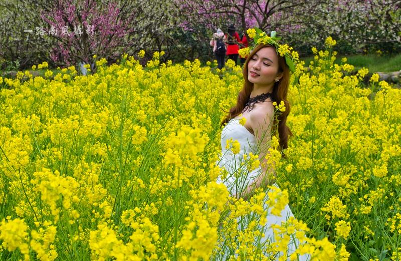 岭南最美乡村遇见绝色美女