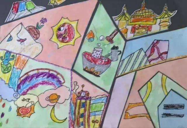 月和三个小伙伴以家乡重庆为主题,各自画了一幅画.旅美华裔画家叶